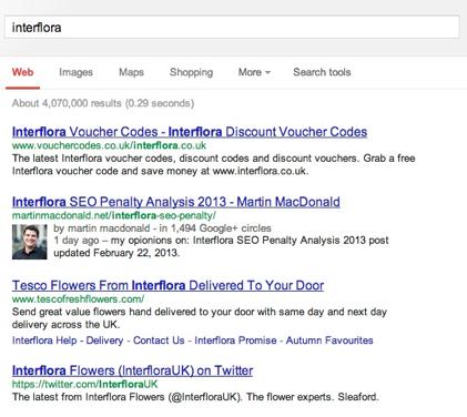 achat de liens interfolia pénalisé par Google