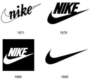 évolution logo nike