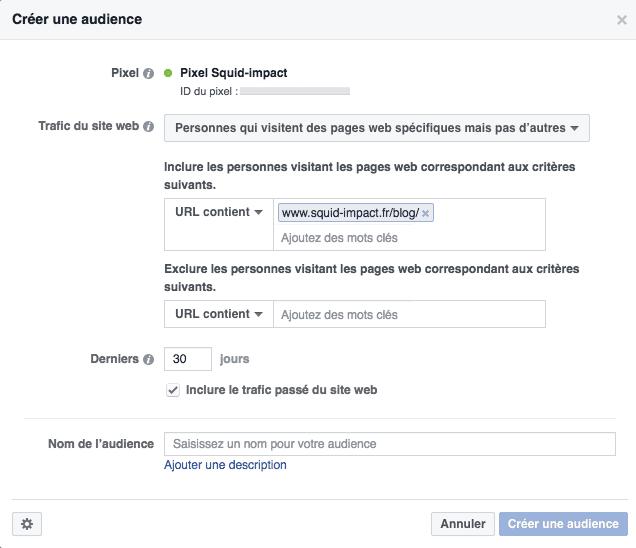 Pixel Facebook personnes qui visitent des pages