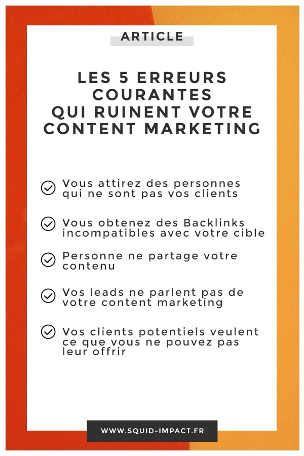 Le content marketing est un allié puissant pour développer votre business ... à condition d'éviter ces erreurs que beaucoup trop d'entreprises commettent ! #ContentMarketing #marketing #webmarketing