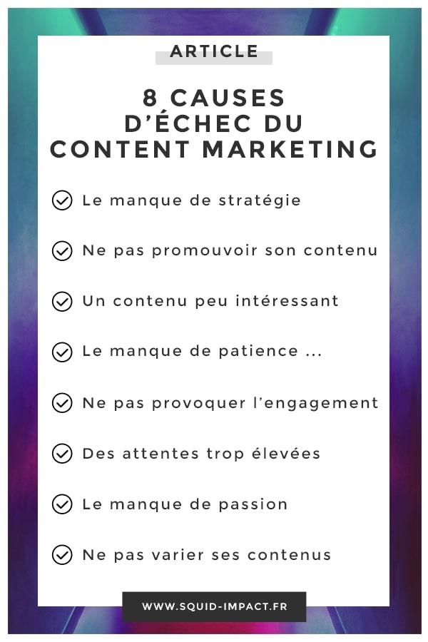 Le Content Marketing est une source de visibilité et de conversions importante. Pourtant, nombreuses sont les entreprises à échouer. En voici quelques raisons. #Blog #ContentMarketing